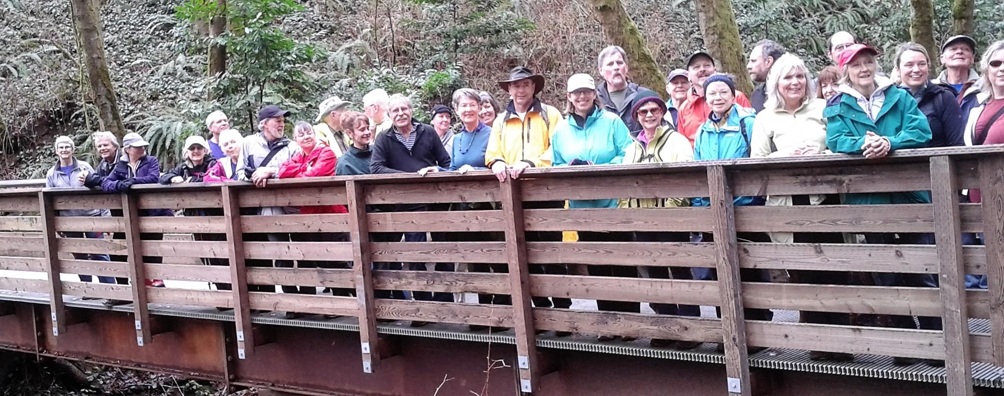 Hikers in Marquam Nature Park 2