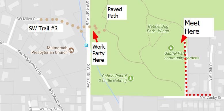 Gabriel Park work party Oct 5 2017