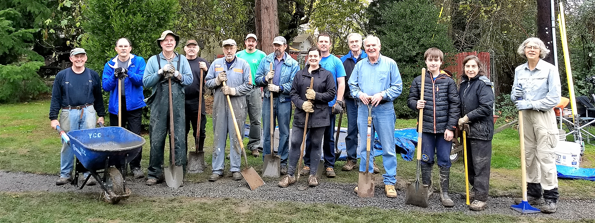April Hill Park work party of November 2017