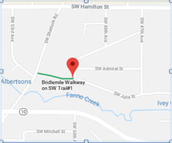 Bridlemile Walkway map