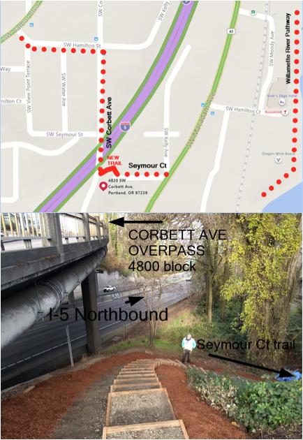 Seymour Steps Map & photo